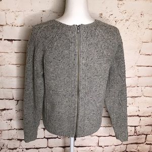 Madewell Palisade Back Zip Up Sweater